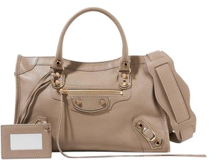 Balenciaga Classic Metallic Edge City Small Tote in Beige
