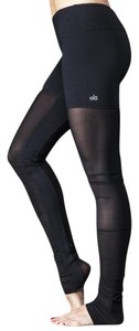 Alo Alo Yoga Goddess Mesh Ribbed Legging in Black
