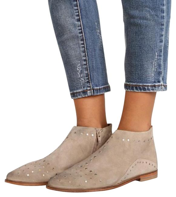 Free People Taupe Aquarian Weathered Studs Suede Distressed Ankle Boots/Booties Size US 6 Regular (M, B) Free People Taupe Aquarian Weathered Studs Suede Distressed Ankle Boots/Booties Size US 6 Regular (M, B) Image 1