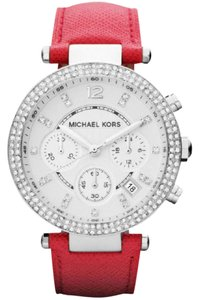 Michael Kors Michael Kors MK2278 Women's Chronograph Parker Pink Leather Strap 39mm