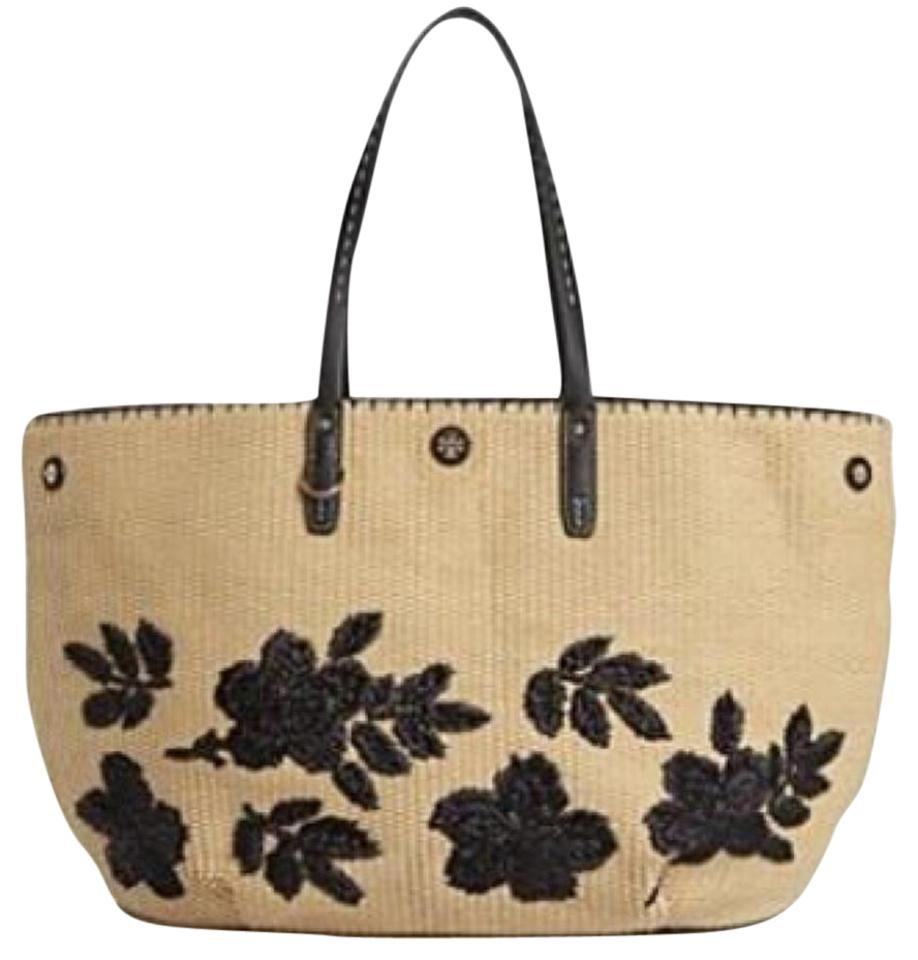 ad213d307ee9 Tory Burch Kerrington Square Natural Straw Leather Tote - Tradesy