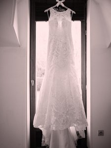 BHLDN Ivory Lace and Polyester - Adalynn Gown Traditional Wedding Dress Size 4 (S)