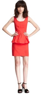 BB Dakota short dress Red Peplum on Tradesy