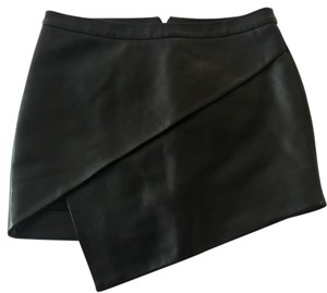 Mason by Michelle Mason Mini Skirt black leather