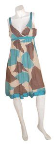 Sue Wong short dress brown, sand, blue on Tradesy
