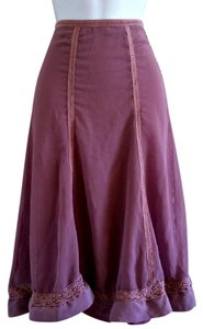 Apostrophe Calf Victorian Lace Skirt Purple