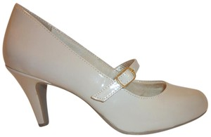 LifeStride Nwb Mary Janes Patent Leather Cream Pumps