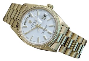Rolex Mens Rolex 18K Gold Day-Date President White 1803