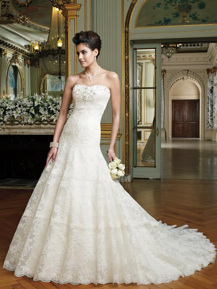 David Tutera for Mon Cheri Ivory Lace and Tulle 212246 Mindy ...