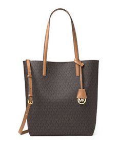 Michael Kors New Classic Monogram Tote in brown Signature/Gold