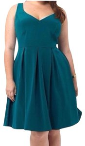 A.B.S. by Allen Schwartz Emerald Fit And Flare V-neck Cocktail Dress