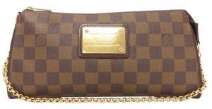 Louis Vuitton Lv Eva Damier Ebne Brown Clutch