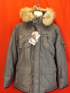 Pajar Gray Mens Canada Nylon Coyote Fur Hoodie James Goose Down Parka L Tuxedo