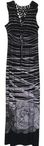 black and white Maxi Dress by Carole Little