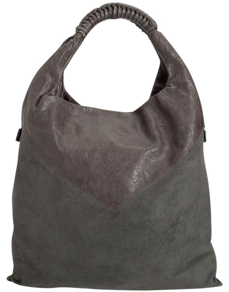 Gray And Leather Shoulder Suede Lang Helmut Bag fwqZg1