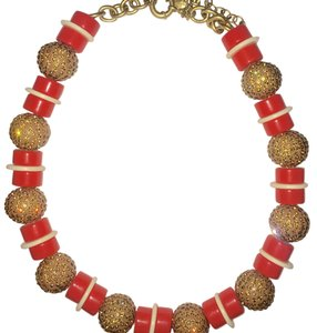 J.Crew J Crew Coral Gemstone Party Necklace