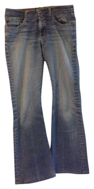 Item - Medium Blue with Distressing Wash Angel Boot Cut Jeans Size 31 (6, M)