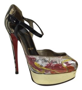 Christian Louboutin High Fashion Consignment Sale Multicolor Platforms