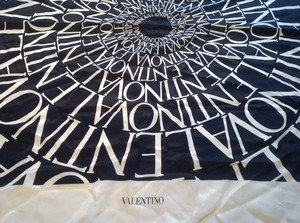 Valentino Women's Black Silk Printed Valentino name