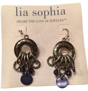 Lia Sophia Lia sophia Jubilee Purple Silver Hoop Earrings