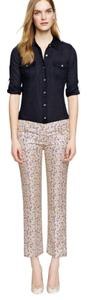 Tory Burch Capri/Cropped Pants blue/cream