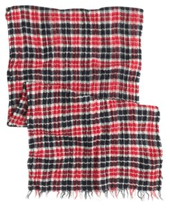 J.Crew J.Crew Double-Faced Plaid Scarf Belvedere Red