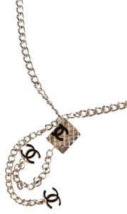 Chanel Chanel Silver-Tone Chain Link Cambon Interlocking CC Belt