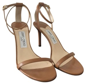Jimmy Choo Tan Caramel Canyon Dark Nude Sandals