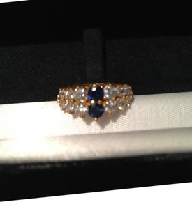 unknown Sapphire and Diamond Cluster ring