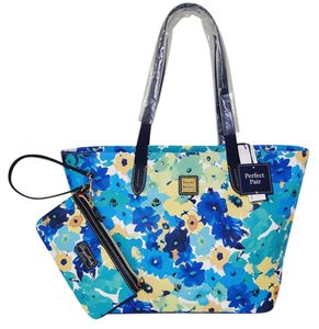 Dooney & Bourke Somerset Marine Floral Wristlet Tote in Blue