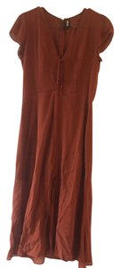 cognac Maxi Dress by Reformation
