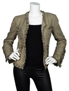 Chanel Metallic Tweed Gold and black Jacket