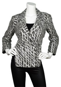 Chanel Metallic Double Breasted High Low Black and silver Jacket