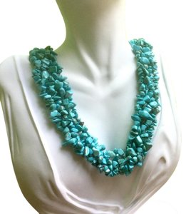 Other New Green Turquoise Gemstone Beaded Necklace