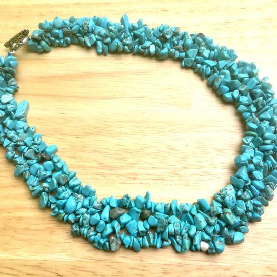 Other New Green Turquoise Gemstone Beaded Necklace Image 2