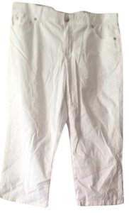 Alfani Capris White, Black, Tan