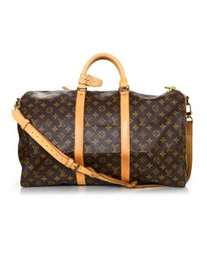 Louis Vuitton Keepall Monogram Bandouliere Keepall 50 Brown and tan Travel Bag