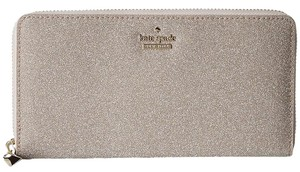 Kate Spade Kate Spade Burgess Court Rose Gold Glitter Lacey Wallet Pwru5237