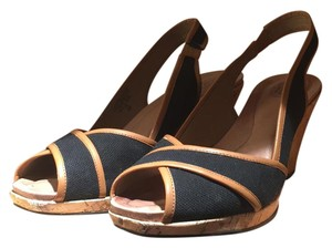 Circa Joan & David black/ medium brown Sandals