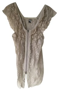 Free People Lace Victorian Music Festival Summer Off Top Cream