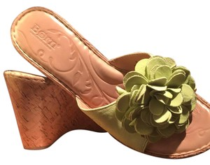 Børn lime green/natural Wedges