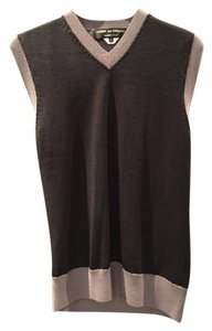 COMME des GARONS V Neck Vest Cable Detail At Neck Sweater