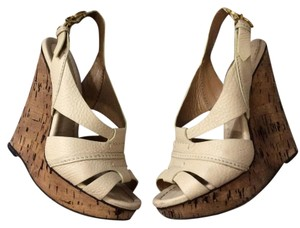 Chloé Chloe Sandals Heels Beige cream Wedges