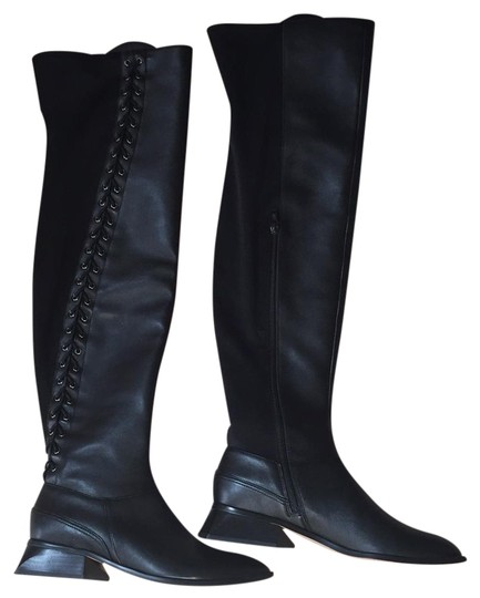 Preload https://img-static.tradesy.com/item/21320488/bcbgmaxazria-black-leather-bootsbooties-size-us-85-regular-m-b-0-1-540-540.jpg