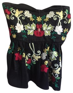 Anthropologie Embroidered Halter Top