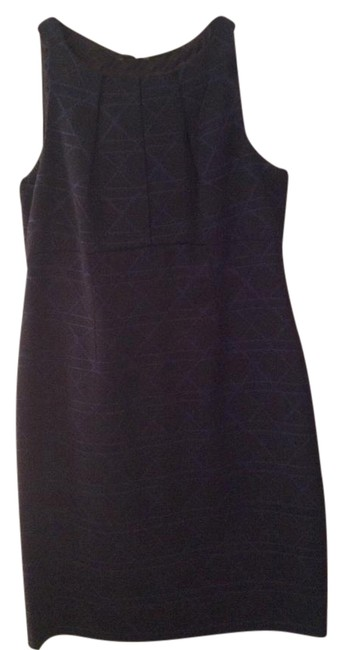 Preload https://img-static.tradesy.com/item/21320544/taylor-navy-and-black-pleated-top-mid-length-workoffice-dress-size-10-m-0-1-650-650.jpg