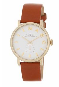 Marc by Marc Jacobs New Baker Leather Strap Watch, Luggage, MBM1316