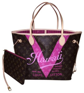 Louis Vuitton Hawaii Neverfull Neverfull Hawaii Rose Ballerine Tote in Pivoine