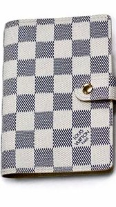 Louis Vuitton Louis Vuitton Damier Azur Ageda Pm day planner cover leather wallets