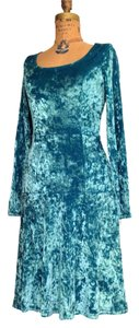 Nanette Lepore short dress Aqua blue Velvet on Tradesy